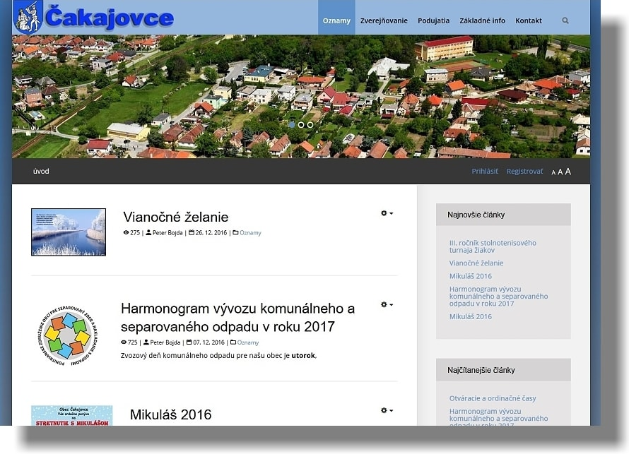www.cakajovce.sk